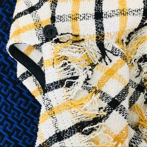 Topshop Dresses - Topshop Gingham slash back asymmetrical dress